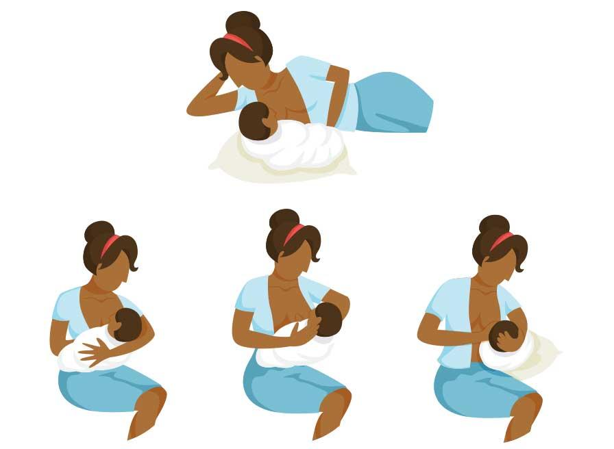 Posição correta do bebé durante a amamentação